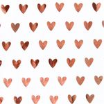 Copper hearts 3m roll wrapping paper