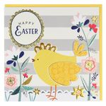 Striped Easter chick card
