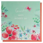 Grandma butterfly flowers Mother's day card