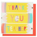 Pencils teacher thank you card