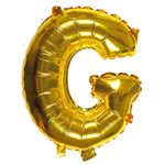 Letter G gold 16 inch balloon