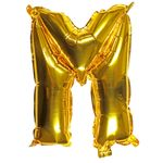 Letter M gold 16 inch balloon