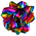 Rainbow glitter extra large self-adhesive bow