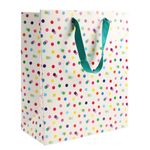 Rainbow dots large gift bag