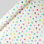 Rainbow confetti wrapping paper - 3m