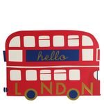 Die-cut London bus postcard