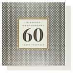 Diamond anniversary 60 years together card