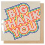 Bright big thank you card