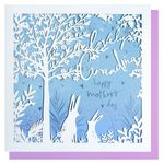 Laser cut bunnies grandma Mother's day card