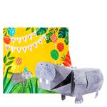 Pop-out hippo birthday card