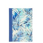 A5 blue ferns notebook