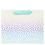Medium ombre pastel star gift bag