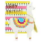 Pop up llama birthday card