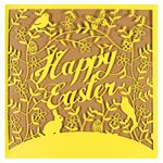Laser-cut bunnies Easter card