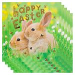 Field bunnies happy Easter card - pack of 5