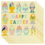 Multi eggs happy Easter card - pack of 5