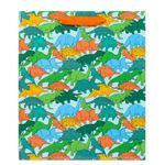 Large dinosaur herd gift bag