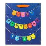 Large birthday bunting gift bag