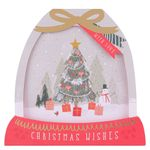 Christmas wishes snow globe Christmas cards - pack of 6