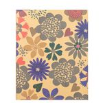 8x10 wild flowers Kraft ruled notebook