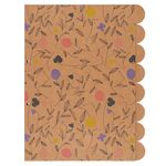 Floral kraft A4 dividers - pack of 8