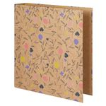 Floral Kraft Lever Arch File