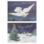 Dove and tree Christmas cards - pack of 10