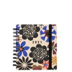 Compact bold floral diary 2021