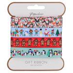 Kids Christmas ribbon - pack of 4