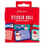 Jumbo Christmas present sticker roll