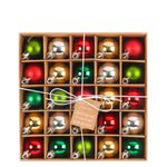 25 Shatterproof Bauble Christmas Decorations