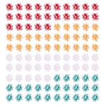 Mini iridescent gift bows - pack of 100