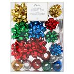Multi coloured gift ribbon and bows combo