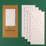 Kraft white trees tissue set - pack of 5