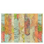 Small Striped Map Self-adhesive Photo Album