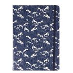 Agenzio hard navy waves ruled large notebook
