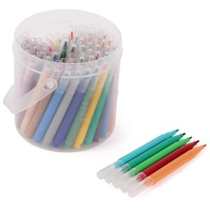 Mini fibre tip pens in a tub - set of 70