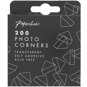 Transparent photo corners - pack of 200
