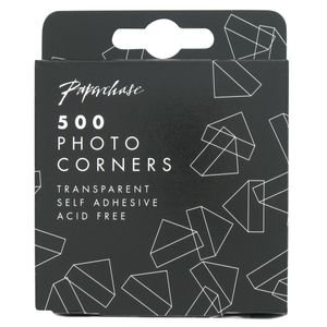 Transparent photo corners - pack of 500