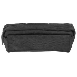 Black nylon multi pencil case
