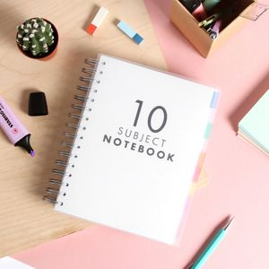 A5 Translucent 10 subject notebook