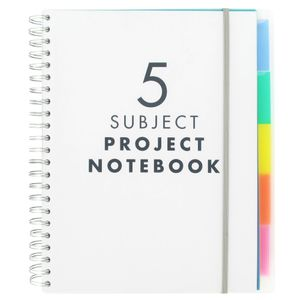 A4 5 subject notebook