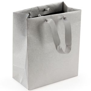Silver Kraft medium gift bag