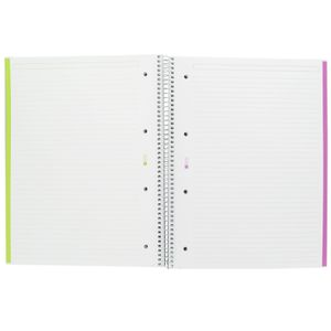 A4 6 part ruled black notebook