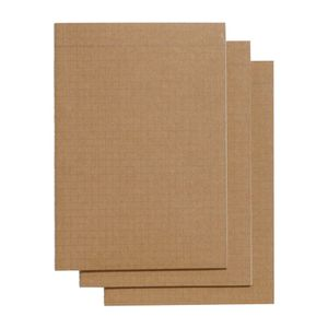 Kraft A5 slim grid exercise books - pack of 3