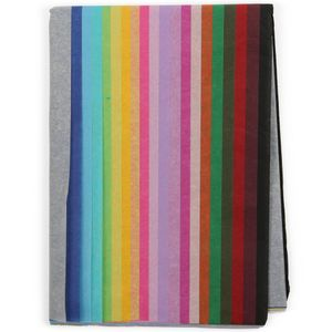 Multi coloured tissue paper - pack of 20 sheets