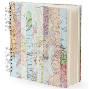 Maps square scrapbook