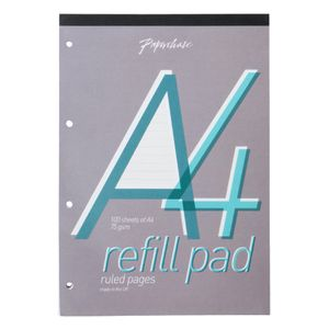 White lined paper A4 refill pad