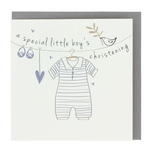 Special little boy's Christening card