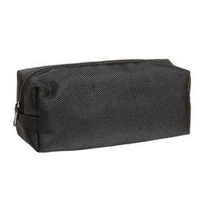 Black nylon square pencil case